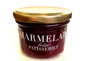 Hallon & nätmelon sylt. Vi kunde inte låta bli att koka denna marmelad. Fantastisk god!